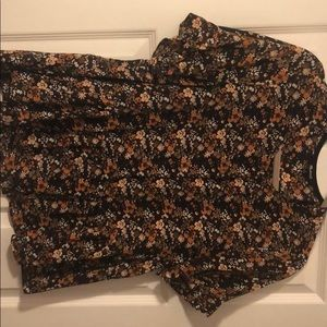 Madewell floral blouse